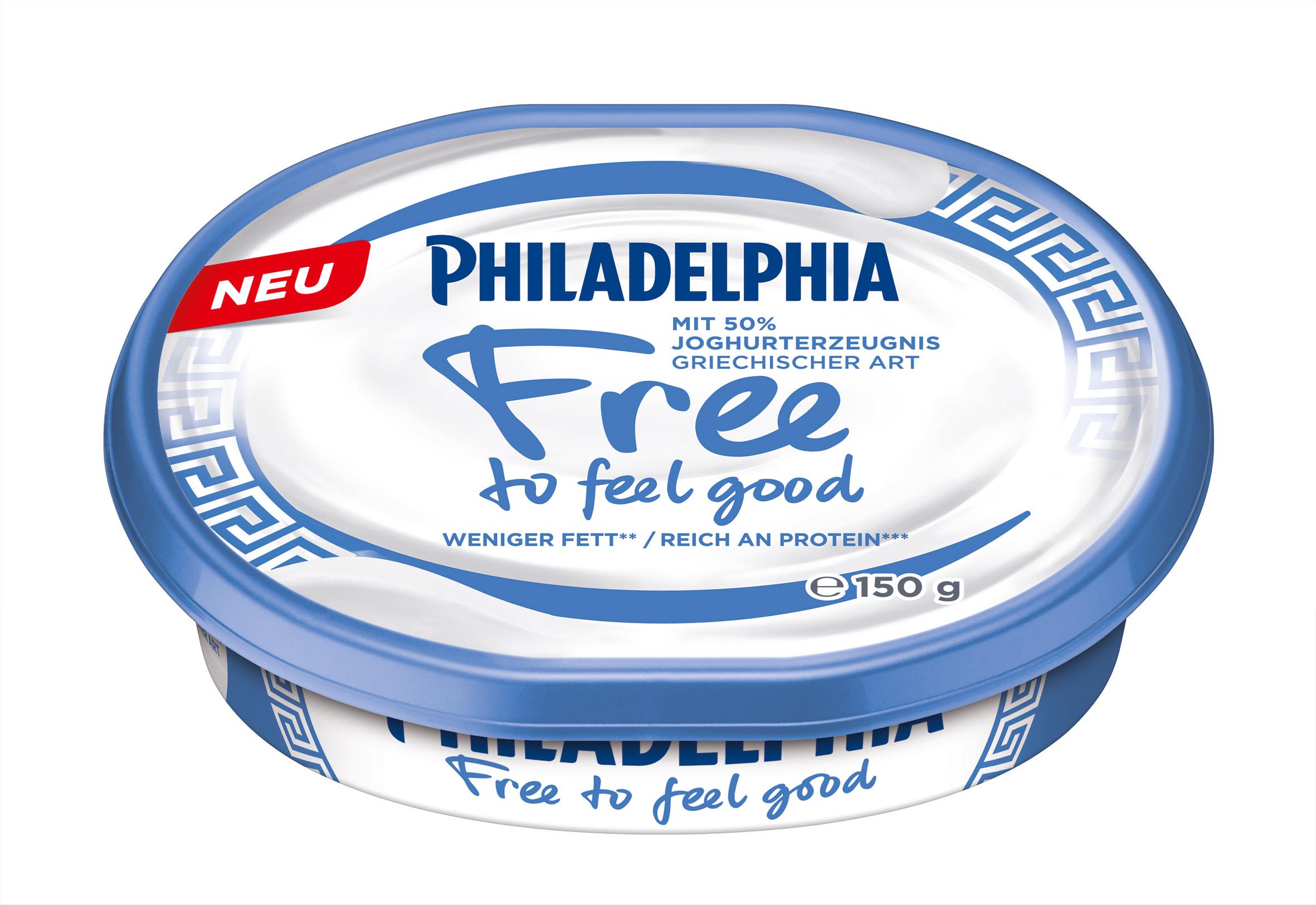 Philadelphia Free to feel good mit 50% Joghurterzeugnis griechischer Art