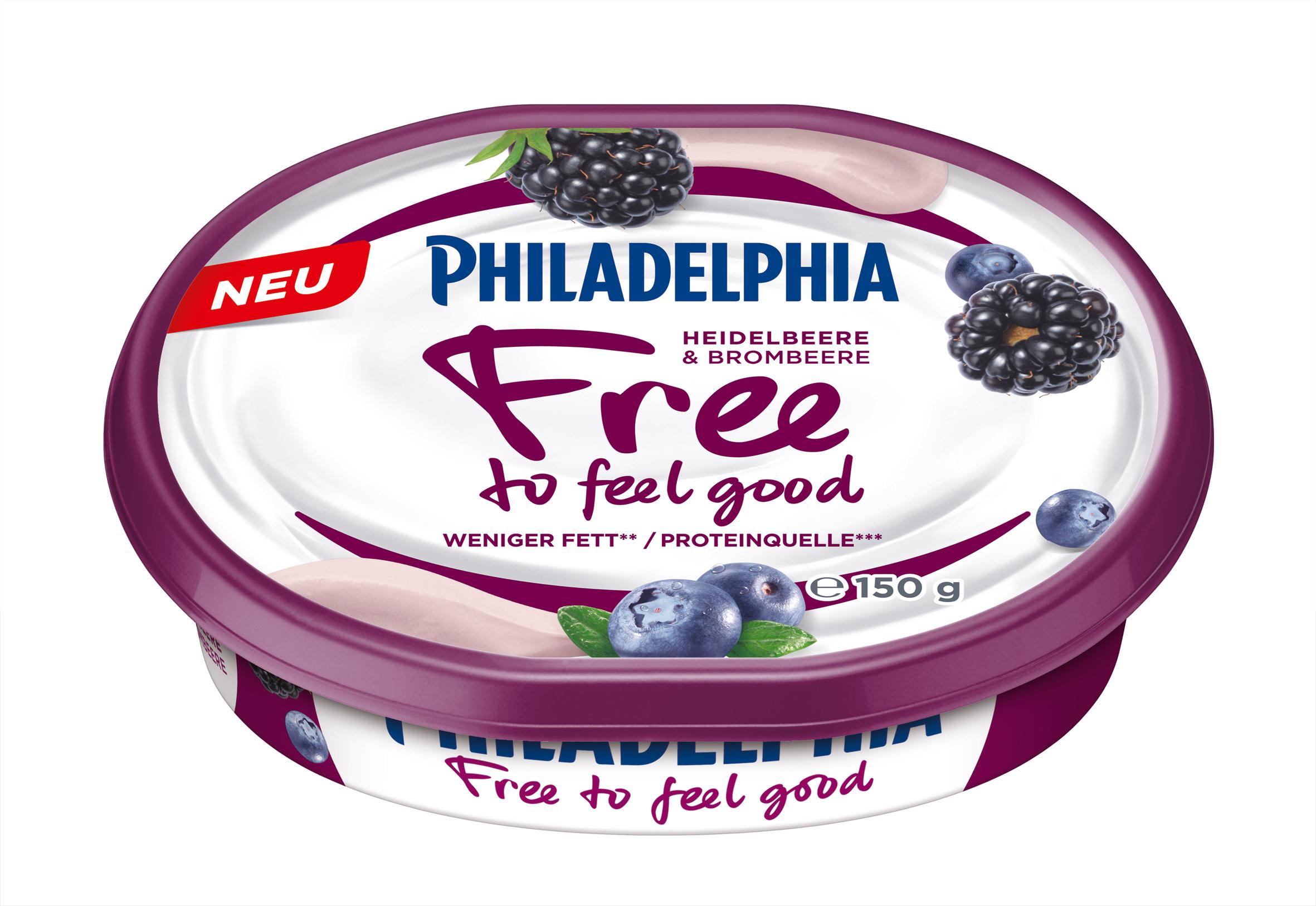 Philadelphia Free to feel good Heidelbeere